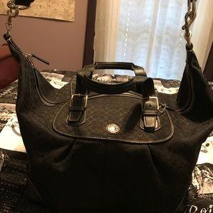 Authentic Coach signature weekender bag